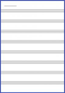 本文罫線タイプ:五線紙