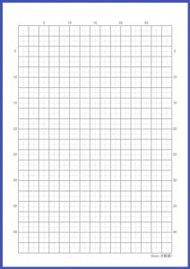 本文罫線タイプ:5mm方眼罫線(リード罫あり)