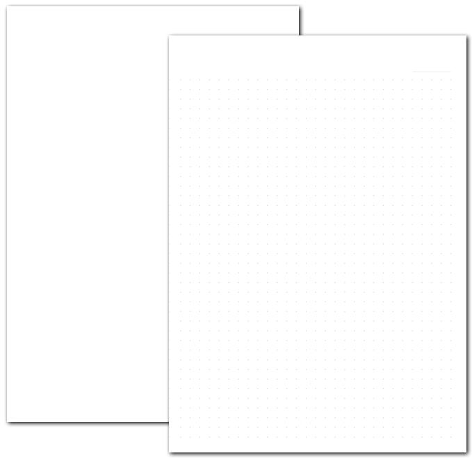 卒園記念ノートの本文(無地orドット罫)のイメージ画像です