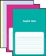 英語罫線ノート