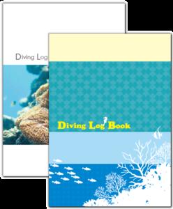 ダイビングログブック。対応サイズはB6・A5・B5・A4。5冊1セットで1,280円から。