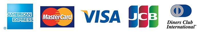 クレジットカード決済(5大ブランド(VISA、Master Card、Diners Club International、AMERICAN EXPRESS、JCB)に対応)