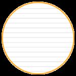 本文が7mm罫線タイプのノートを作ります。