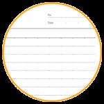 本文が7mm罫線(ドット目盛付)タイプのノートを作ります。