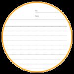 本文が6mm罫線(ドット目盛付)タイプのノートを作ります。