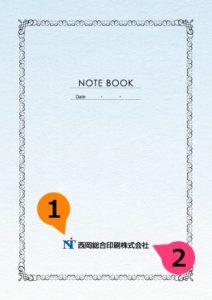 文字の差替ノート「nc001_basic-01」の表紙デザインの画像です。