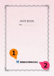 文字の差替ノート「nc002_basic-02」の表紙デザインの画像です。