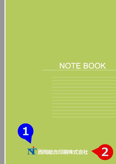 写真・ロゴ・文字の差替ノート「nc009_stylish-03」の表紙デザインの画像です。