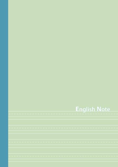 HNオリジナルの商品「nn038_english-02」の表紙デザインの画像です。