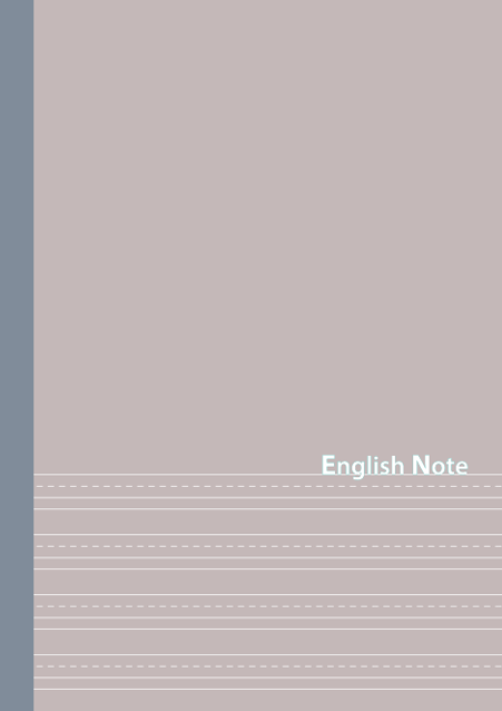 HNオリジナルの商品「nn039_english-02」の表紙デザインの画像です。