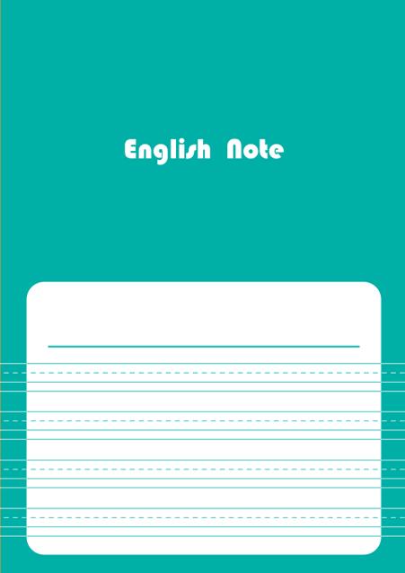 HNオリジナルの商品「nn040_english-04」の表紙デザインの画像です。