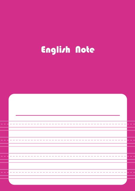 HNオリジナルの商品「nn041_english-05」の表紙デザインの画像です。