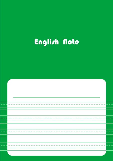 HNオリジナルの商品「nn042_english-06」の表紙デザインの画像です。
