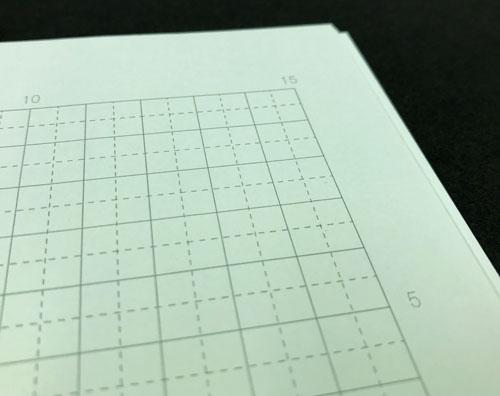 光の反射を抑えて目が疲れにくい緑の用紙を使ったノートが「グリーンノート」。