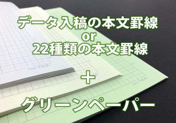 作り方の例(本文罫線+グリーンペーパー)の説明画像です)