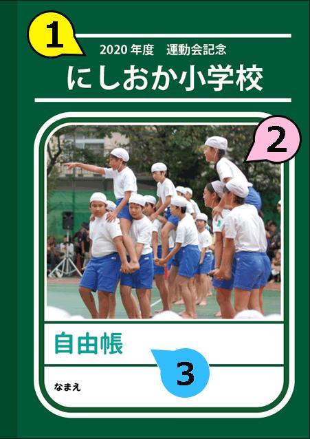 写真・ロゴ・文字の差替ノート「nc027_tradition」の表紙デザインの画像です。