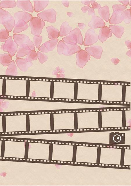 写真・ロゴ・文字の差替ノート「nc028_film」の裏表紙デザインの画像です。
