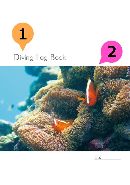 写真・ロゴ・文字の差替ノート「nc016_diving-01」の表紙デザインの画像です。
