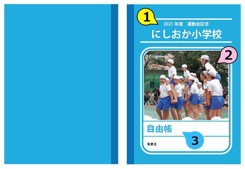 nc034_familiar-blueの表紙と裏表紙のイメージ画像です。